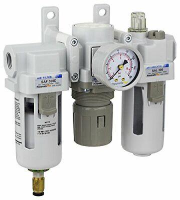 Pneumaticplus Air Filter Regulator Lubricator 38 Npt 250 Psi Sau300-n03dg