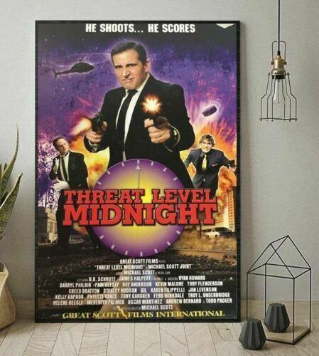 Michael Scott The Office Threat Level Midnight Vertical Poster No Framed Poster