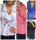 Ruffle Short Sleeve Cap Sleeve Tops for Women