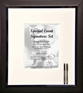 Wedding Signature Frame And Mat Set 8 X 10 Photo Ebay