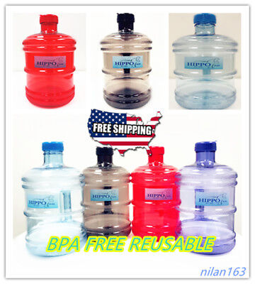 BPA FREE 1 Gallon Reusable Plastic Drinking Water Bottle Jug Container Canteen (1 Gallon Plastic Bottles)