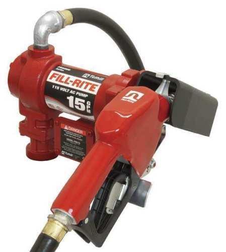Tuthill Fill Rite FR610GA Pump 115V AC 15 GPM Fuel Transfer Pump, hose, Nozzle