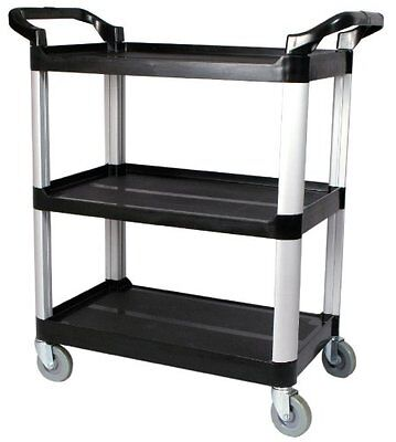 Aluminum Rolling Cart Wheeled Shelf Utility Trolley Storage Organizer 3 Tier