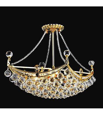 Palace Crown 6 Light Crystal Chandelier Light Gold -precio Mayorista