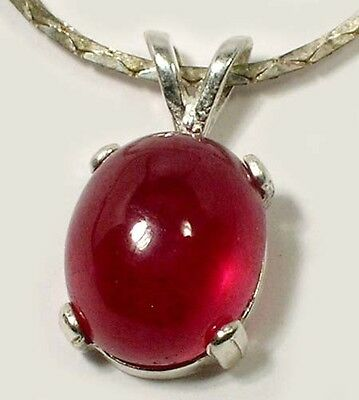 18thC Antique 5½ct+ Ruby Ancient Hindu Ratnaraj King of Gems WarriorTalisman 925