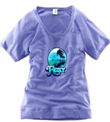 ROXY Damen Shirt T-Shirt Kurzarm Print Gr. XS L flieder NEU - S139
