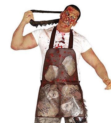 Blutig Schürze Körperteile Halloween Kostüm Zombie Guts Skin Weste Ed Gein