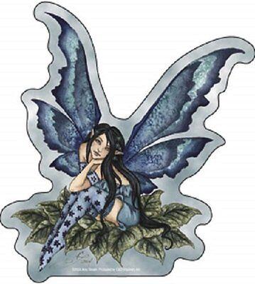 Amy Brown Sticker Decal Fairy Faery Wistful Blue Green leaves room school decor