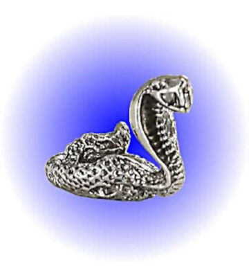 Striking Cobra Snake Pewter Figurine - Lead Free
