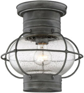 New in Box One Light Flush Mount for outside  REG $275.00