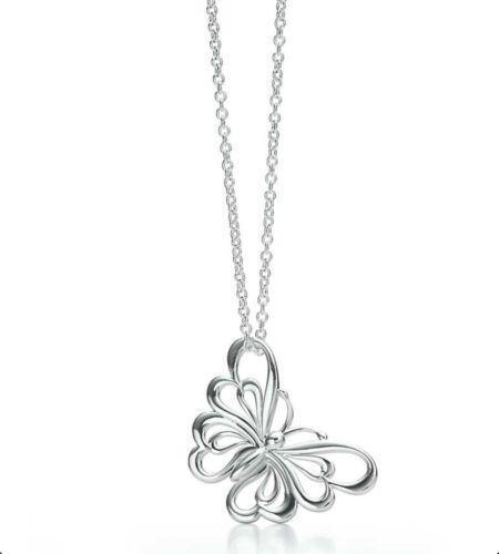 Tiffany butterfly pendant ebay mozeypictures Images