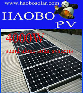 Brand 48V/4000w stand alone solar systems;16×250w solar panels;48V/600Ah battery
