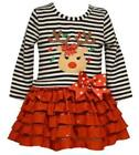 Bonnie Jean Christmas Cotton Blend Dresses (Newborn - 5T) for Girls