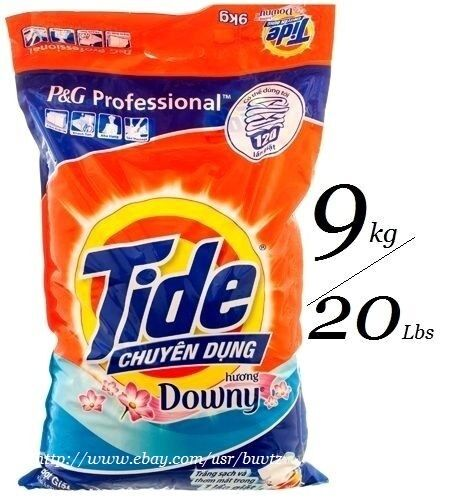 TIDE PLUS + Downy Powder Detergent Professional P&G  20 Lbs / 9 Kg SEALED NEW