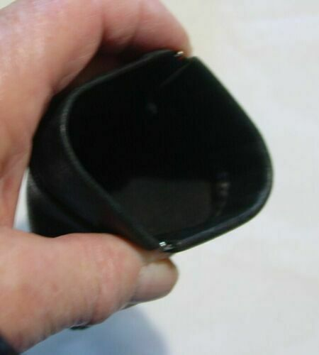 Porte monnaie neuf clic clac en cuir noir ou marron vintage