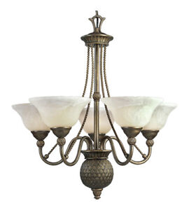 Savannah 5 Light 27 inch Burnished Chestnut Chandelier