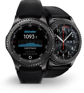 Samsung Gear s3 frontier watch with box and wireless charger