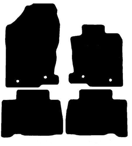 Lexus NX 300H (2014-Date) New Black Checker Rubber Tailored Car Floor Mats