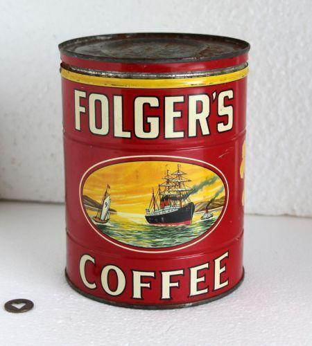 Tin folgers coffee cans ebay - What are coffee cans made of ...