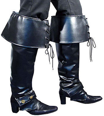 Deluxe Mittelalterlich Piraten Haken Herren Damen Erwachsene Schwarz - Schwarze Piraten Kostüm Schuhe