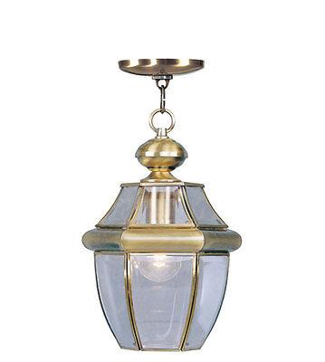 Antique Brass Light Livex Monterey Lighting 2152-01 Exterior Hanging Porch Lamp Monterey Traditional Chandelier