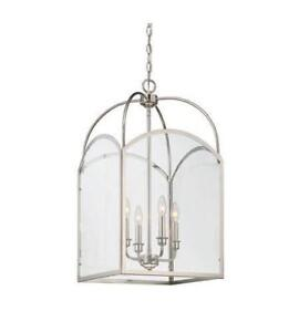Savoy House 3-3056-4-109 Garrett 4 Light 15 inch Polished Nickel Foyer Ceiling Light NEW