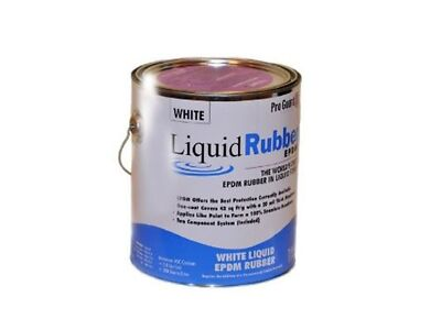 Bright Rubber -Liquid EPDM coating -1 Gallon -for roof leaks, repair, sealing