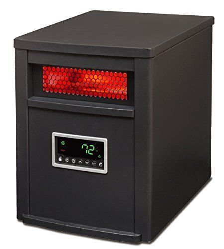 LifeSmart 6 Element w/Remote Large Room Infrared Heater, Bla