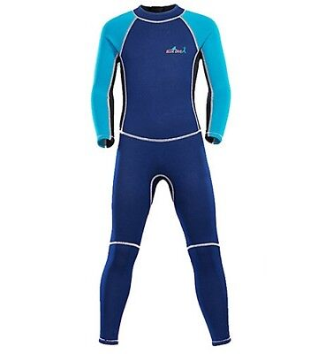 Bluedive Boys    Girls  Full Wetsuit 2mm Neoprene Diving Suit Thermal Size M fd75f5a87