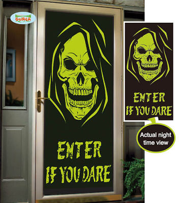 Totenkopf Türdeko Halloween Dekoration fluoreszierend