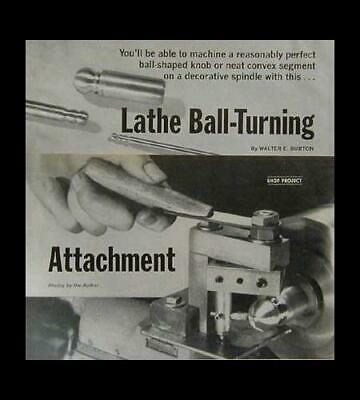 Ball Turning Toolpost Attachment How-to Build Plans 9 Lathe