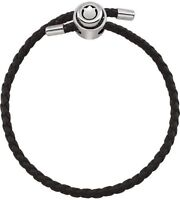 Persona Leather Braid Bracelet with 925 Silver Clasp