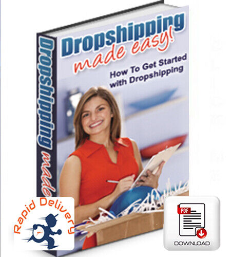 DROPSHIPPING MADE EASY, PDF eBook w/Resell Rights + Free Shipping!