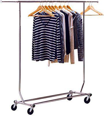 New Decobros Supreme Commercial Grade Clothing Garment Rack Chrome Mobile 2013