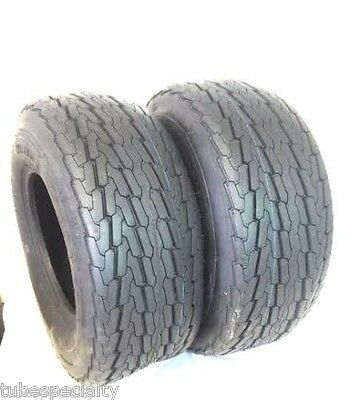 2 (TWO) 20.5x8-10 20.5x8.0-10 20.5x8.00-10 10 PR Load E Heavy Duty Trailer Tire