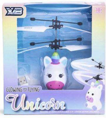 Unicorn Flying Heli Copter Glows Usb Mystical Heli Ball New Birthday (Flying Unicorn)