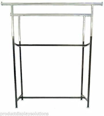Double Bar H Rack With Adjustable Height 48-72 Black