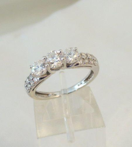 Pre Owned Diamond Engagement Ring 3 Stone