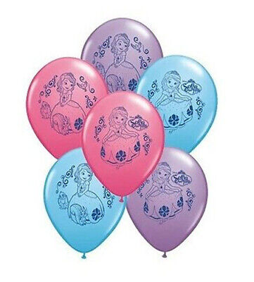 Princess Sofia Birthday (PRINCESS SOFIA THE FIRST birthday party supplies LATEX BALLOONS 6 helium)