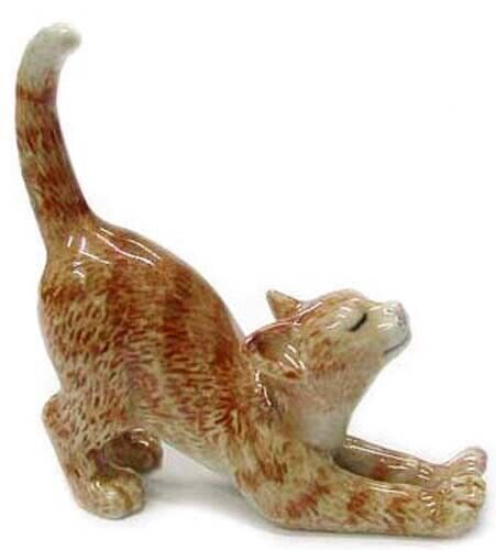 ➸ NORTHERN ROSE Miniature Figurine Orange Tabby Cat