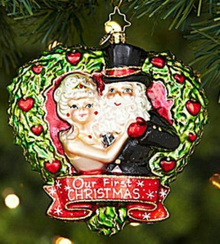 "Christopher Radko Christmas Ornament ""True Love"" New 2013 1st Christmas Together"