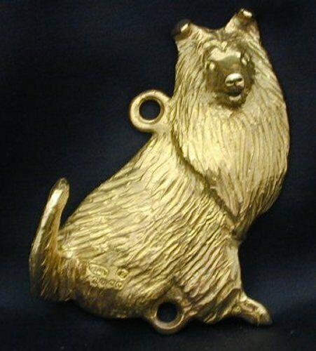 COLLIE, ROUGH Hook in Bronze