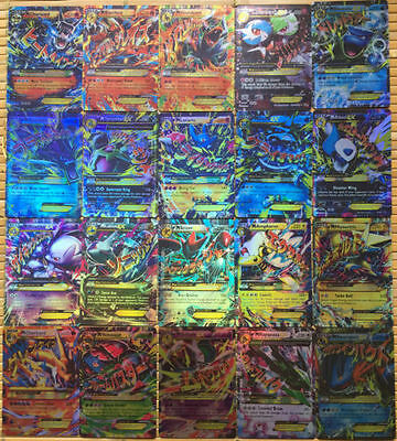 20pcs Pokemon EX Card All MEGA Holo Flash Trading Cards Charizard Venusaur
