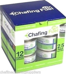 12 x 2.5 Hour Chafing Dish Fuel Gel Cans, Catering , Caterers Buffet
