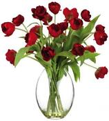 Artificial Tulips in Vase