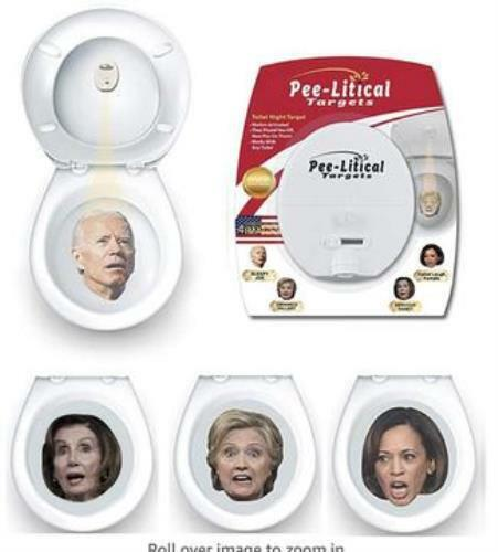 Pee-Litical Target Toilet Light Projector (Hillary, Joe, Obama, Kamala)