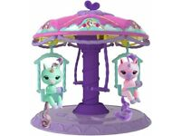 Fingerlings Twirl-a-Whirl Carousel Playset with 2 Fingerlings Unicorns, Brand New, Boxed