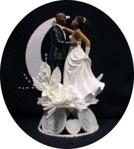 wedding cake toppers african american bride and groom american wedding cake toppers ebay 26375