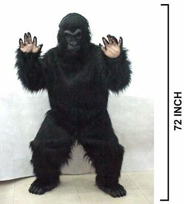 FRIENDLY GORILLA COSTUME party suit halloween monkey dressup adult complete new - Gorilla Suit Halloween