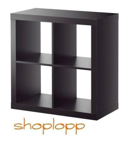 expedit schwarzbraun regale aufbewahrung ebay. Black Bedroom Furniture Sets. Home Design Ideas
